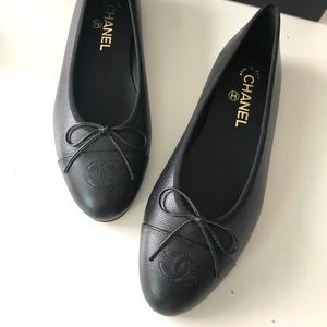Chanel Classic Caviar Grained Ballet Flats